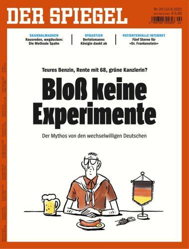 Cover: Der Spiegel Nachrichtenmagazin No 24 vom 12  Juni 2021