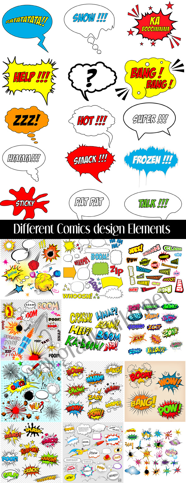 Different Comic Design Elements