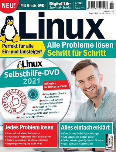 Cover: Digital Life Magazin Linux Schritt füt Schritt Juli-August No 04 2021