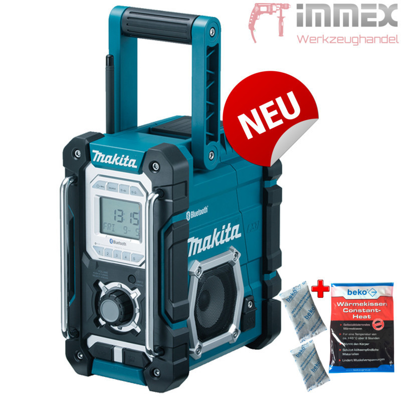 makita baustellenradio dmr108 bluetooth usb aux in radio nachfolger von dmr106 ebay. Black Bedroom Furniture Sets. Home Design Ideas