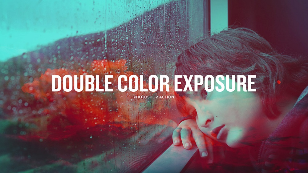 Double Color Exposure-Photoshop Atn