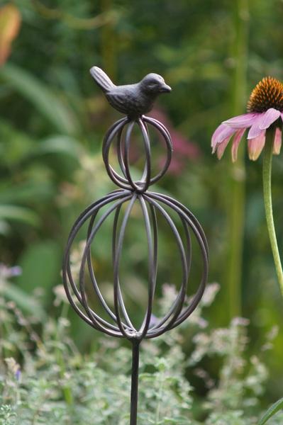 Gartenstecker pflanzstecker gartendeko metall antik stil for Gartendeko metall vogel