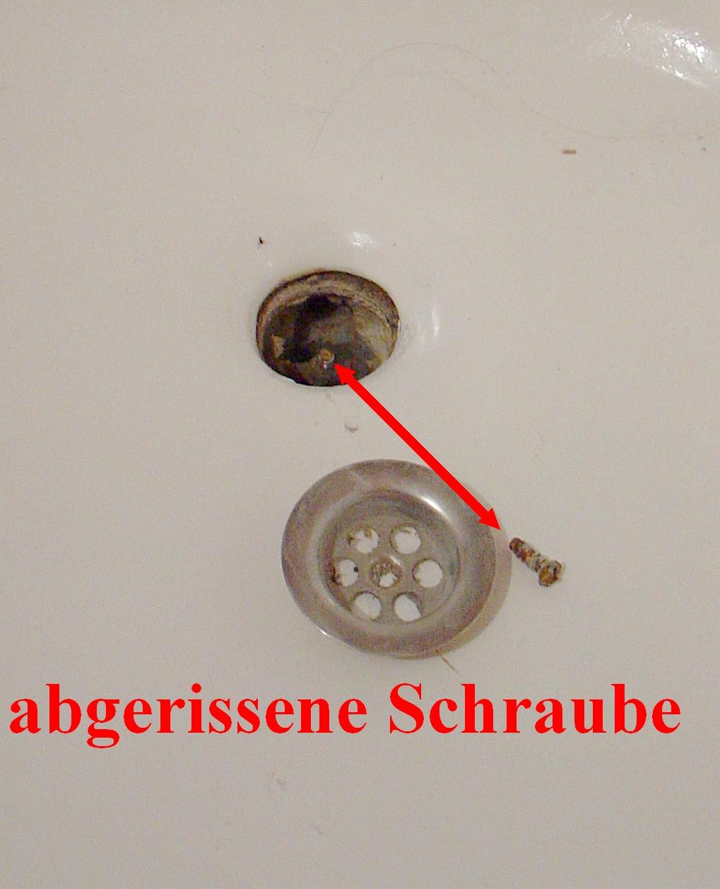 Favorit Schraube Badewannensieb abgerissen - und nun ? - HaustechnikDialog RP52