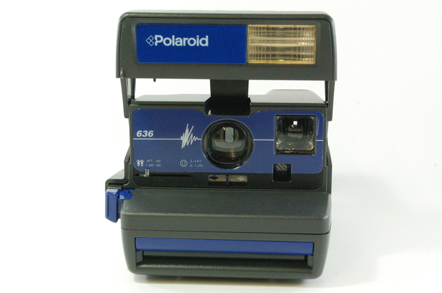 polaroid 636 blue instant camera boxed 600 film tested ebay. Black Bedroom Furniture Sets. Home Design Ideas