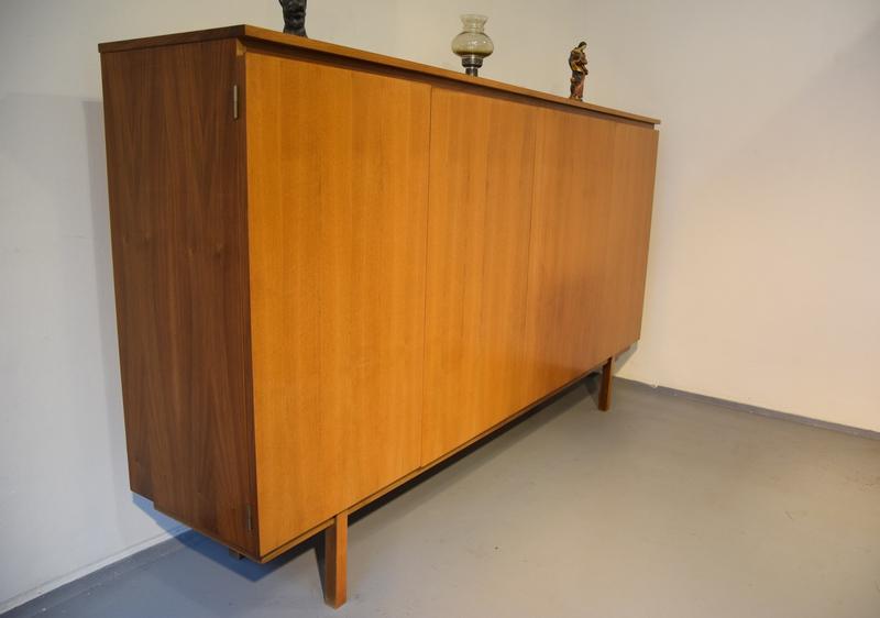 wk m bel designer anrichte kommode sideboard highboard stuttgart um 1960 ebay. Black Bedroom Furniture Sets. Home Design Ideas