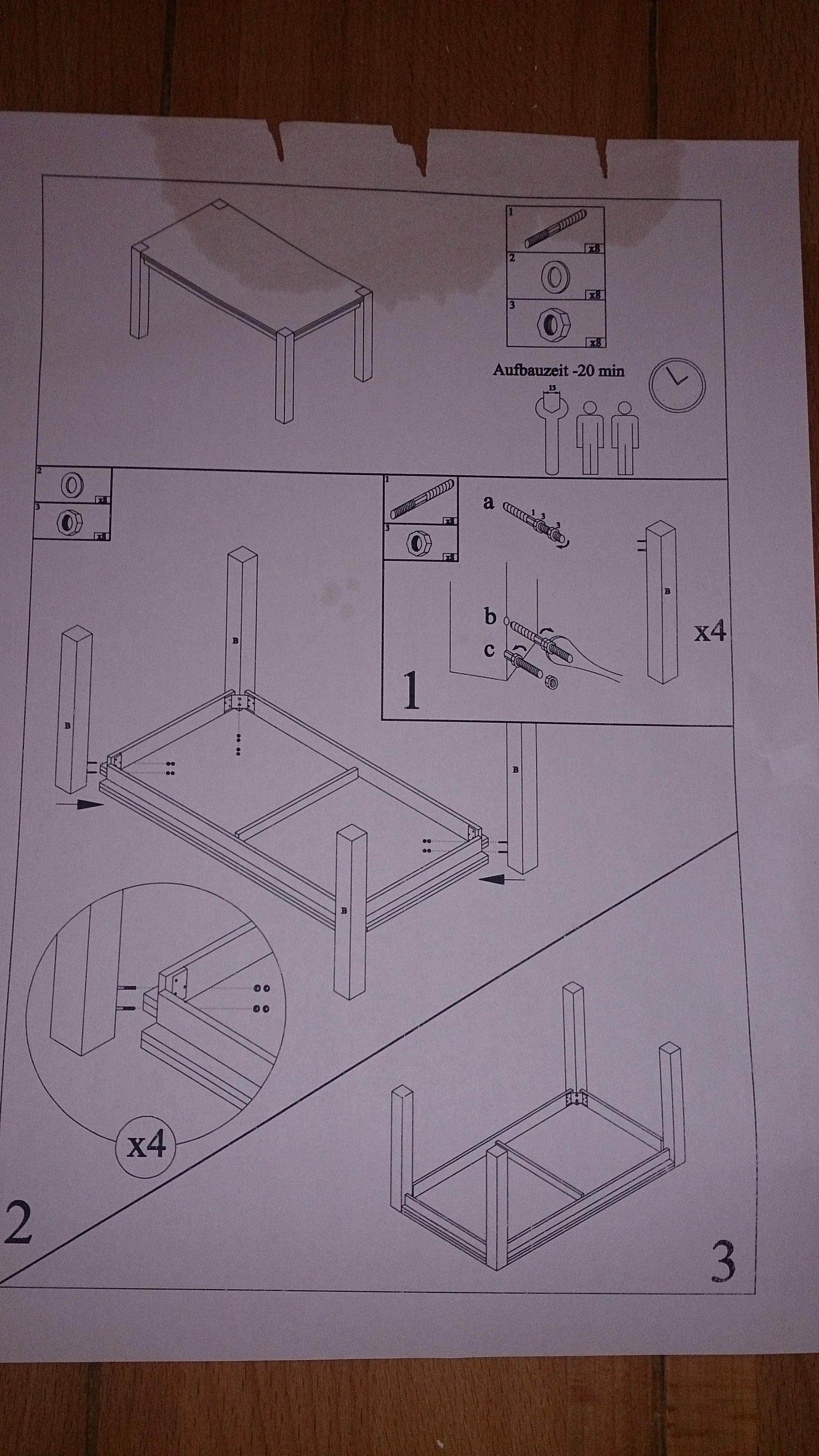 esstisch zusammenbauen wie ist die anleitung zu deuten f e anschrauben computerbase forum. Black Bedroom Furniture Sets. Home Design Ideas