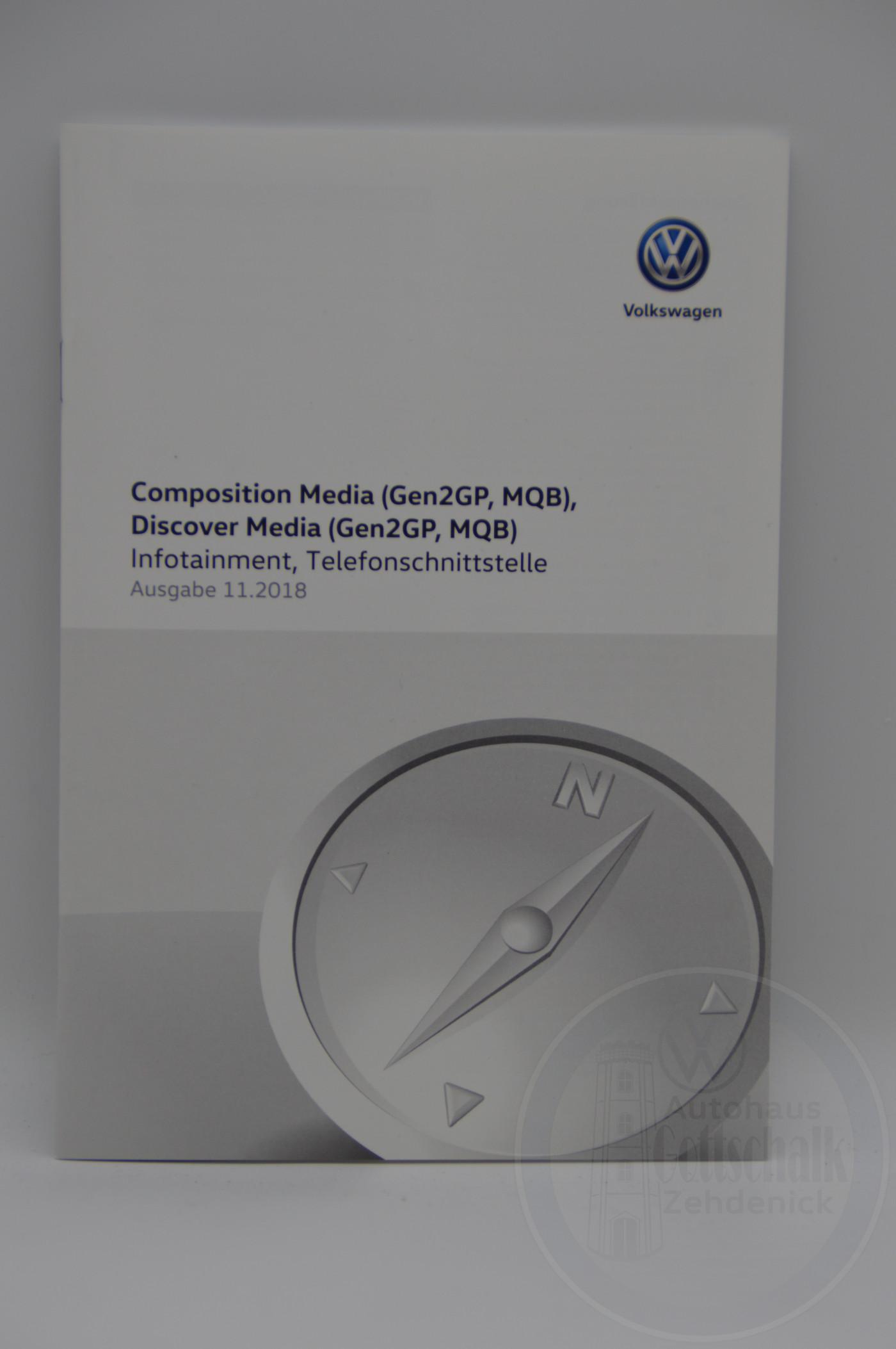 Original VW Bedienungsanleitung Radio Infotainment Discover Media Composition Media 11/2018 5G4012705AA