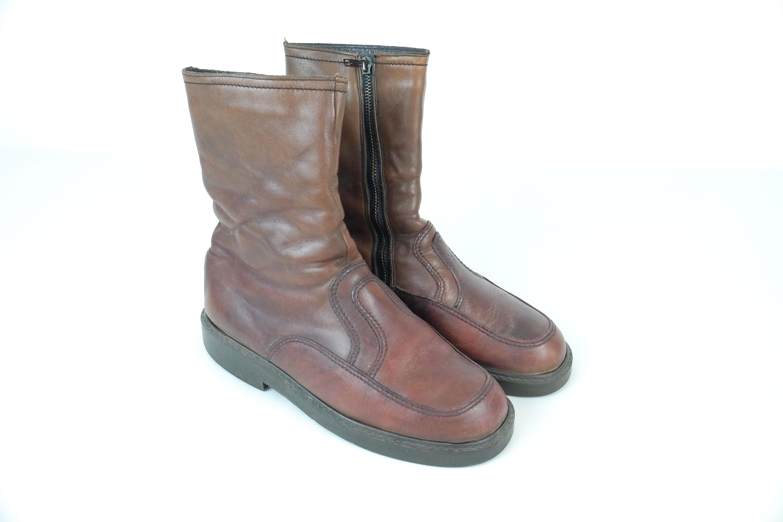81c28bd66e26ee True Vintage Lederstiefel Boots Winterschuhe Fell Gefüttert Gr.43