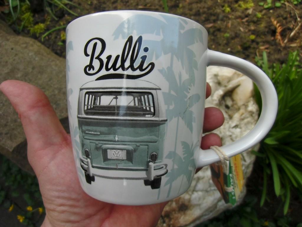 German Volkswagen VW Classic Bulli Ceramic Coffee Mug//Cup Camper Van BUS Samba