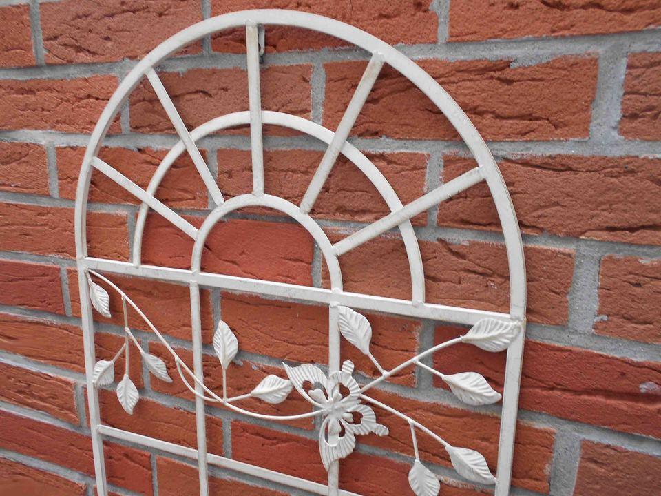 Wanddeko antik creme weiß Stallfenster Nostalgie Fenster aus Eisen 55x97cm