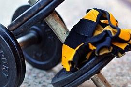 Hanteln, Handschuhe, Gewichte, Übung