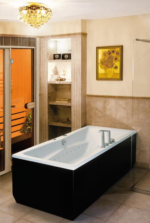 wellness badewanne mit led lichttherapie fernbed chromoprog 180 80 mundoo ebay. Black Bedroom Furniture Sets. Home Design Ideas