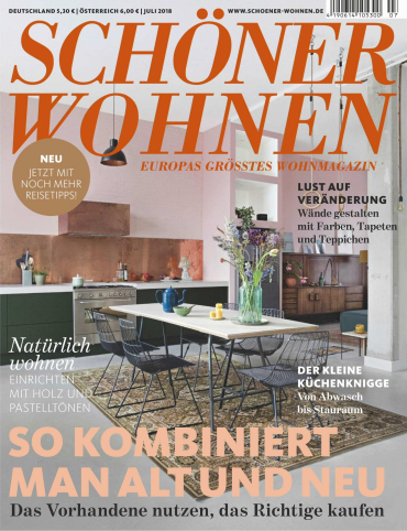 Schöner Wohnen Magazin Juli No 07 2018