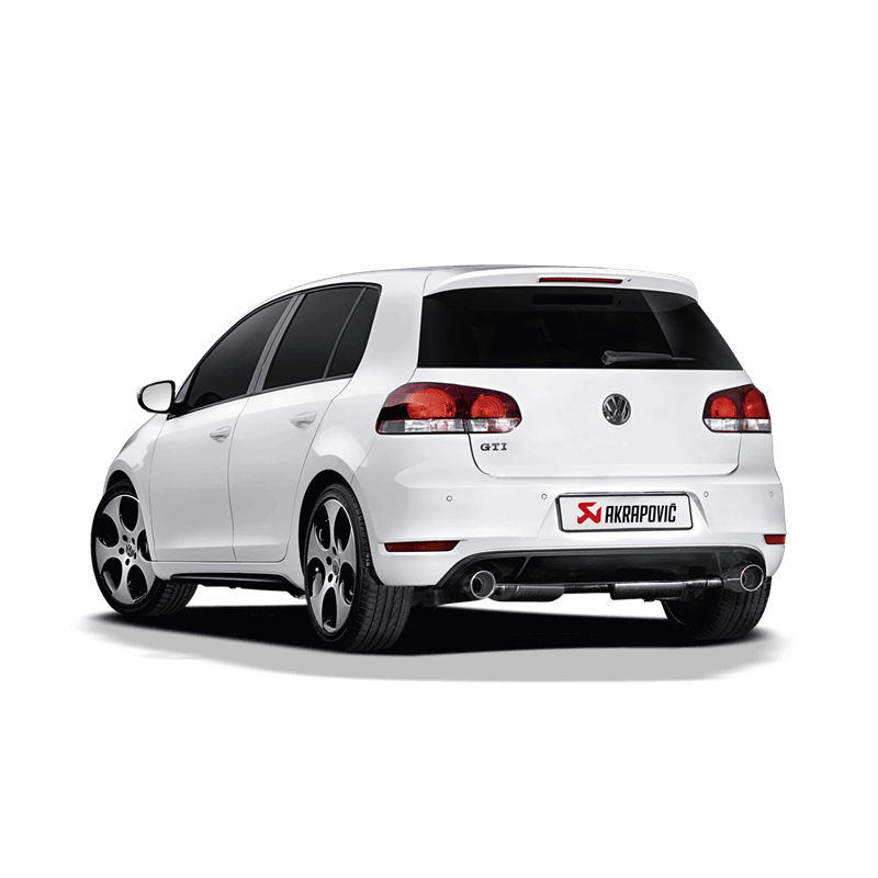 akrapovic vw golf 6 gti slip on sportauspuff auspuffanlage. Black Bedroom Furniture Sets. Home Design Ideas
