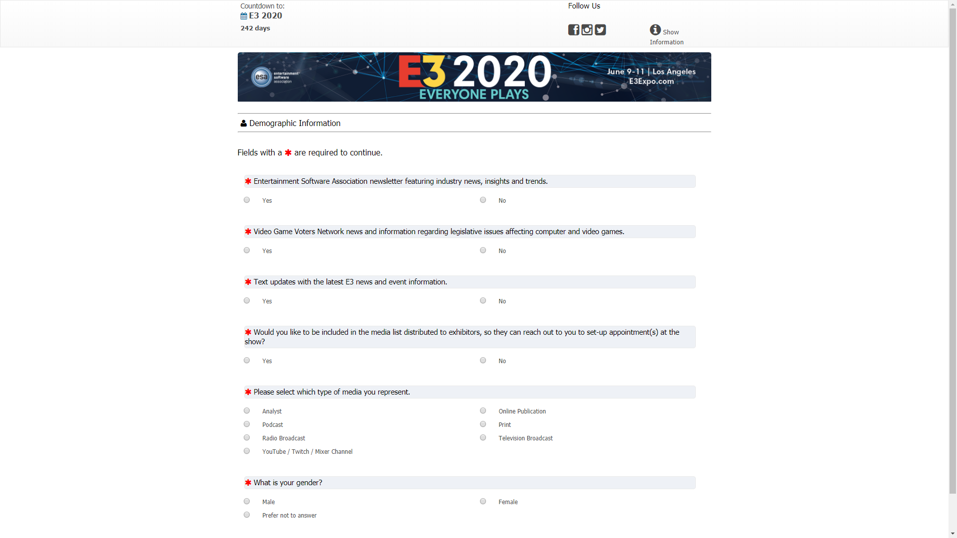 E3 2020 Games List.E3 2020 Information Passes 60 995 Media List Opt