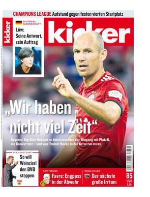 Kicker Sportmagazin No 85 vom 18 Oktober 2018