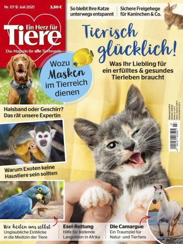 Cover: Ein Herz für Tiere Magazin No 07 Juli 2021