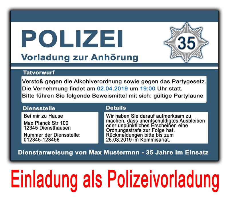 einladungskarten geburtstag vorladung zur polizei einladung zum, Einladung