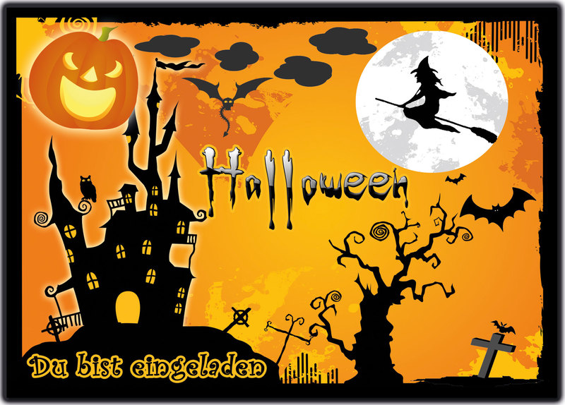 Wunderbar Einladungskarten zu Halloween zur Halloweenparty Einladung  MI15
