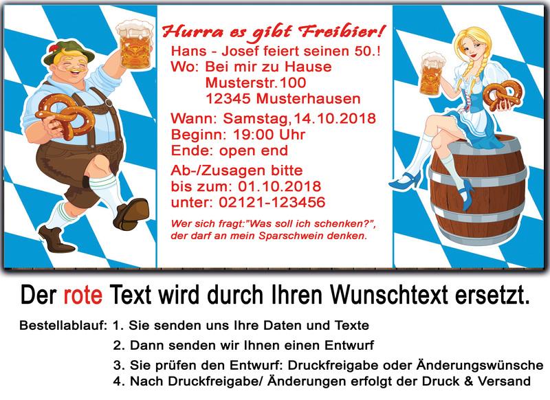 Einladungskarten Motto: Oktoberfest!