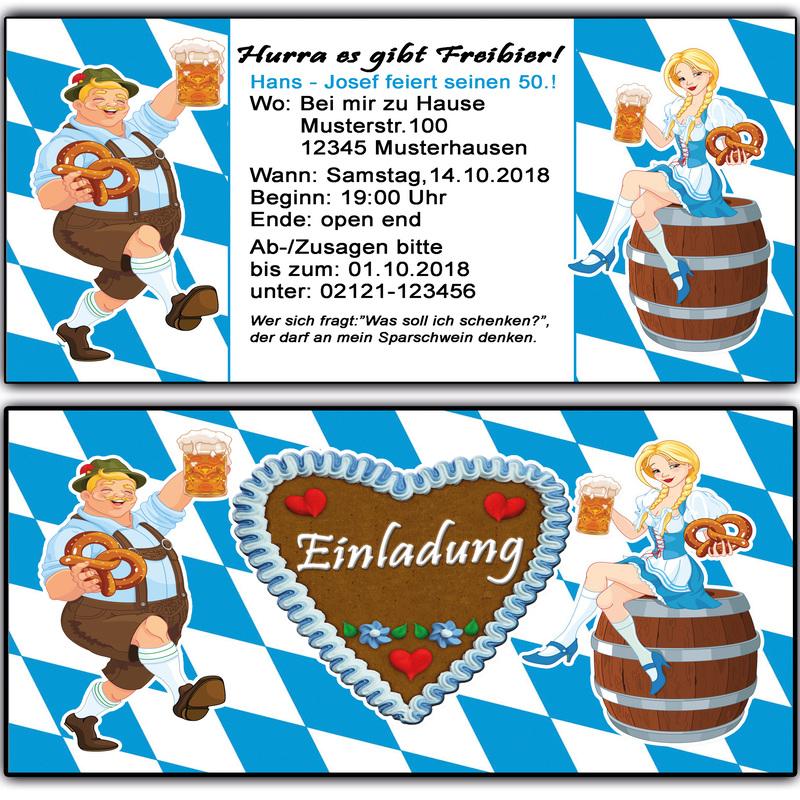 einladungskarten zum oktoberfest hüttengaudi geburtstag o-zapft-is, Einladung