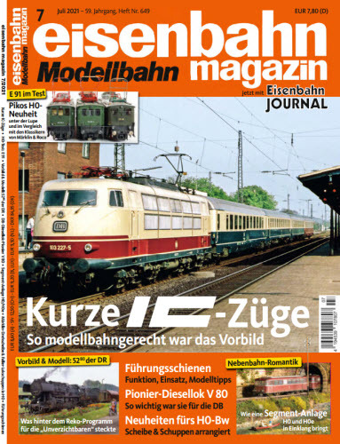 Cover: Eisenbahn Modellbahn Magazin No 07 2021