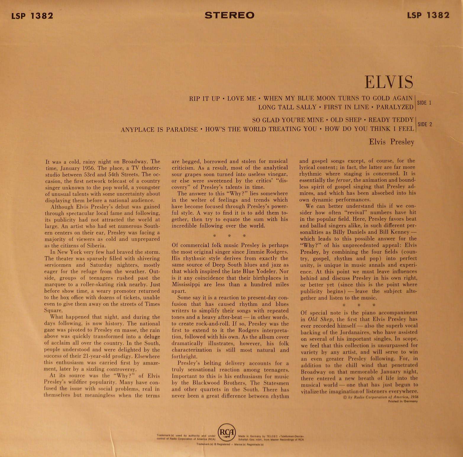 ELVIS Elvis_1956_1966_lsp_r2qubm