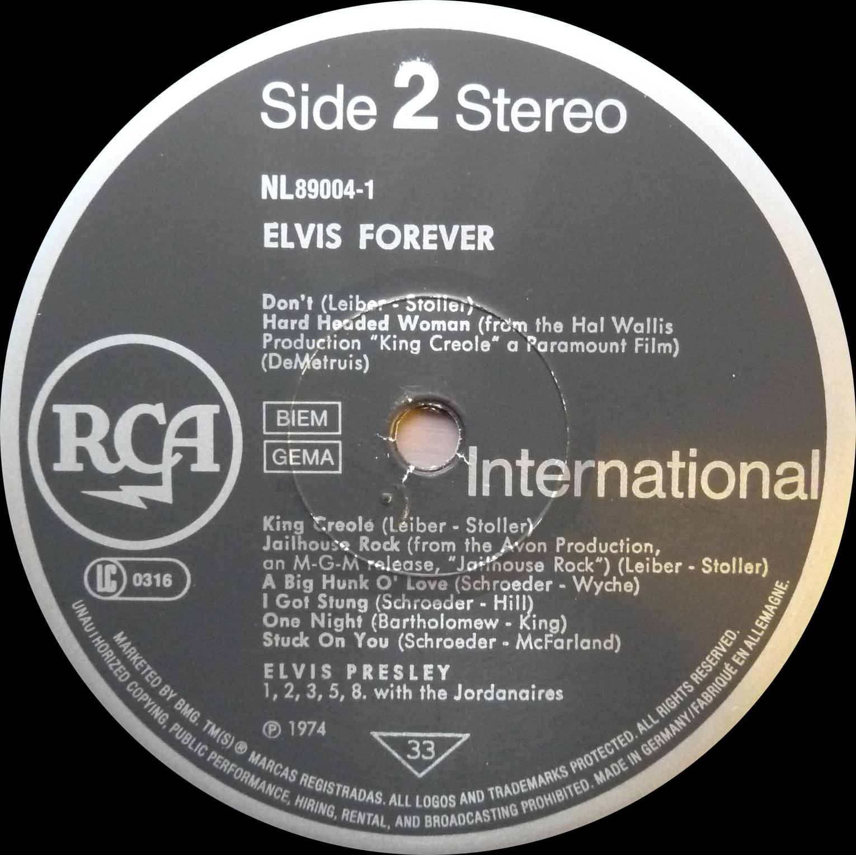 ELVIS FOREVER - 32 HITS Elvisforever90side2fpkad