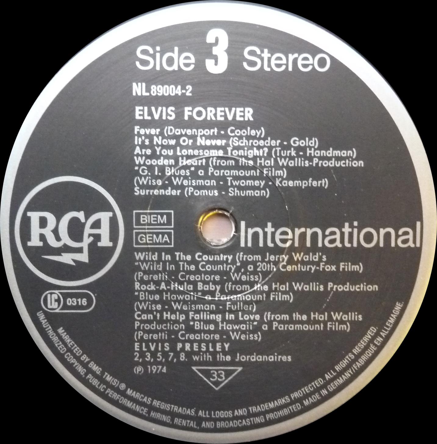 ELVIS FOREVER - 32 HITS Elvisforever90side39hj47
