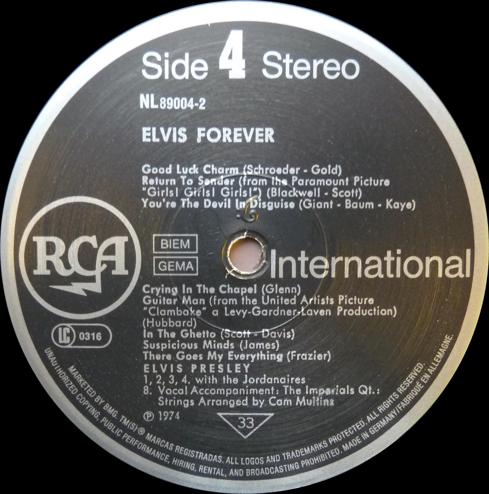 ELVIS FOREVER - 32 HITS Elvisforever90side4ztjrl