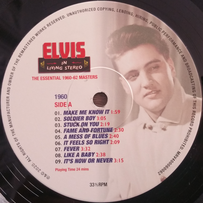 ELVIS IN LIVING STEREO (The Essentail 1960 - 1962 Masters) Elvisinlivingstereo6nckkj