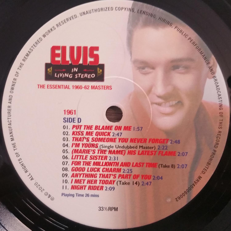 ELVIS IN LIVING STEREO (The Essentail 1960 - 1962 Masters) Elvisinlivingstereo9aqk14