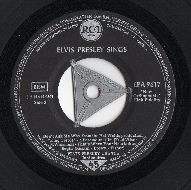 ELVIS PRESLEY SINGS Elvispresleysings1egs3a