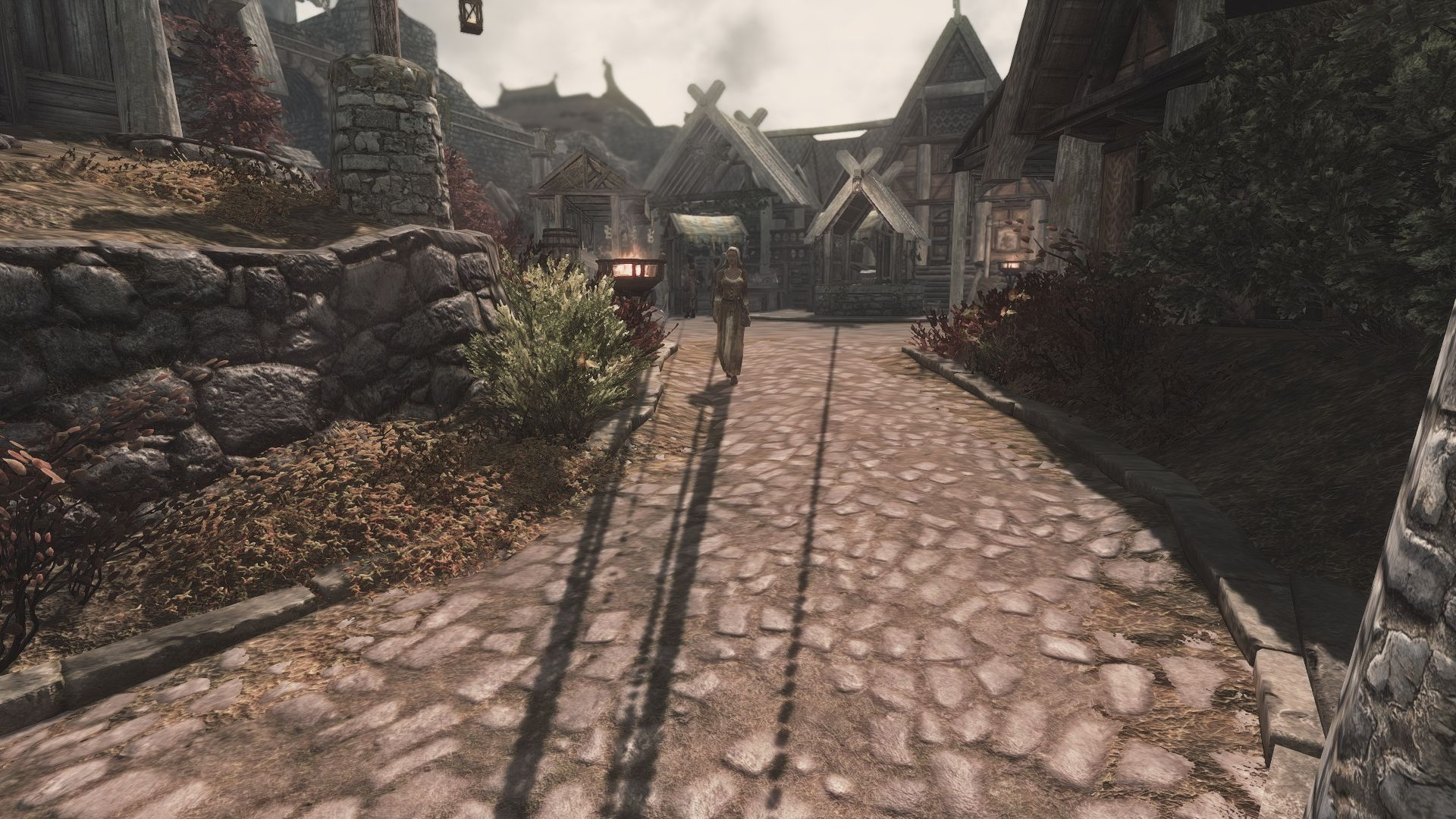 Lighting flickering and strange shadows - Skyrim Technical