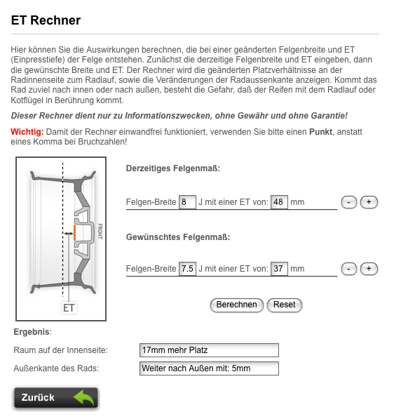 felgen und reifenliste w168 exterieur karosserie. Black Bedroom Furniture Sets. Home Design Ideas
