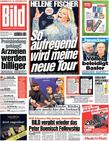 : Bild Zeitung - 20 Oktober 2016