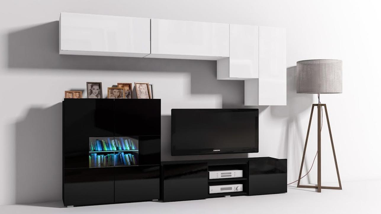 wohnwand bluemabell m bel wohnen und mehr mit stil. Black Bedroom Furniture Sets. Home Design Ideas