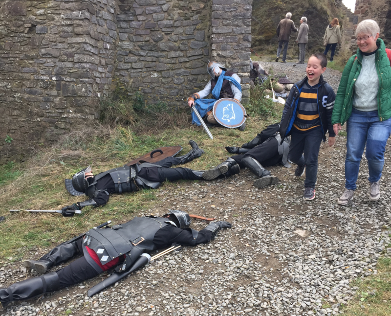 'dead' knights lying around