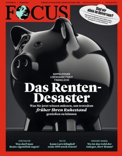 Cover: Focus Nachrichtenmagazin No 25 vom 19  Juni 2021
