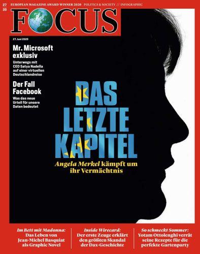 Cover: Focus Nachrichtenmagazin No 27 vom 27  Juni 2020