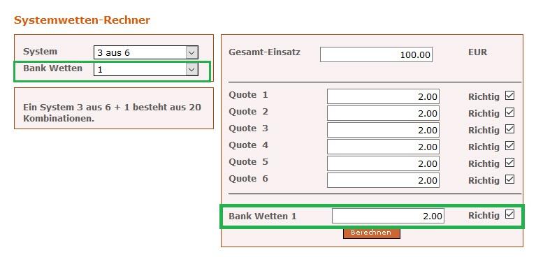 Systemwetten Rechner Excel