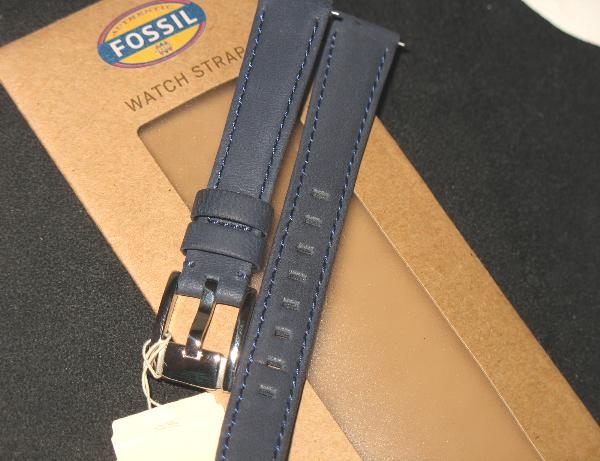 fossil dickes blaues leder armband dunkelblau 14 mm 25 s. Black Bedroom Furniture Sets. Home Design Ideas