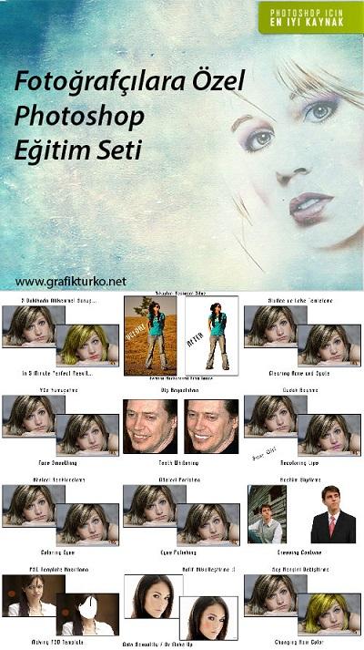 Fotoğrafçılara Özel Türkçe Photoshop Eğitim Seti
