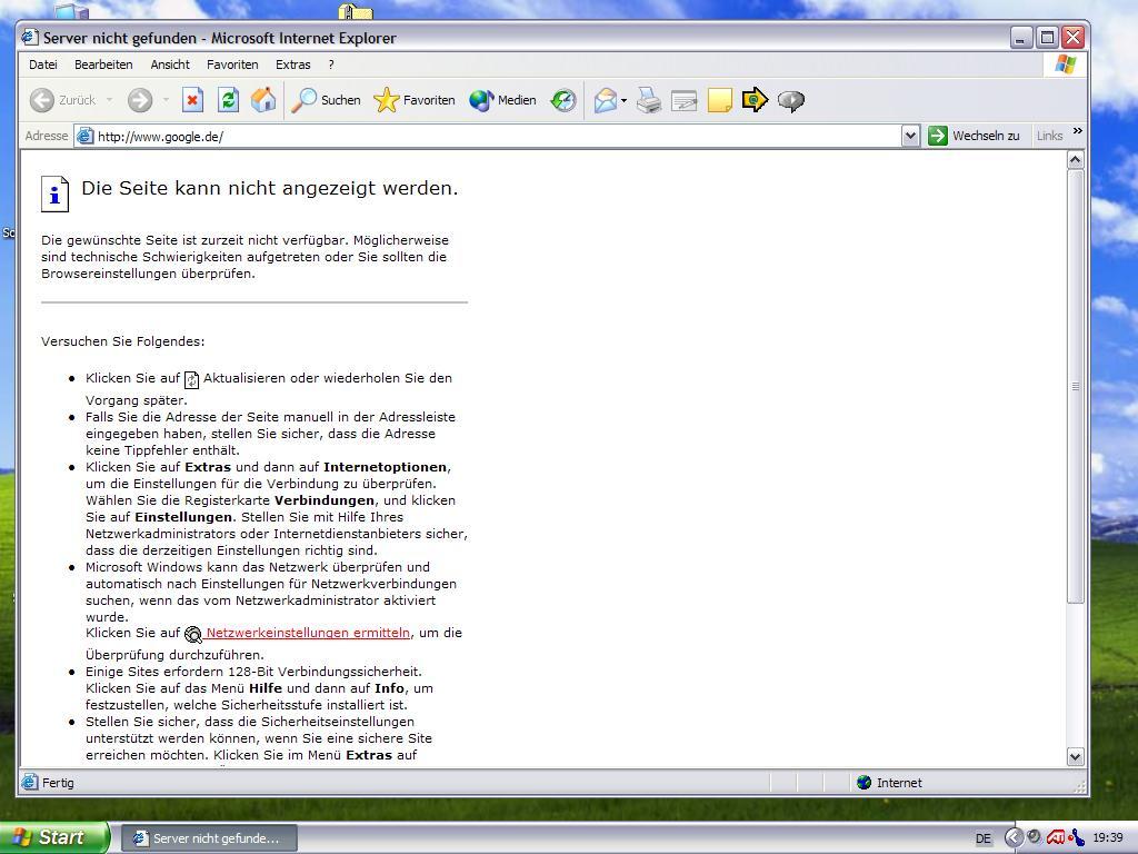 Windows xp internet explorer keine verbindung tntlogistics us