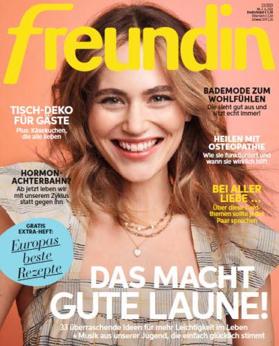 Cover: Freundin Frauenmagazin No 14 vom 16  Juni 2021