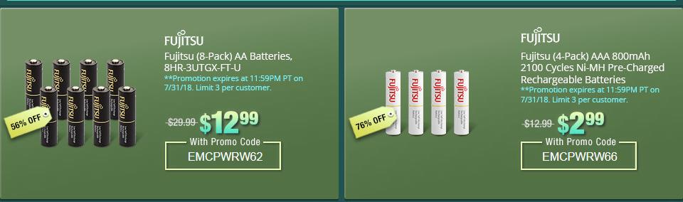 Aaa Battery Promo Code >> Sale Is Over Fujitsu Lsd Aa Aaa Batteries Super Cheap On Newegg