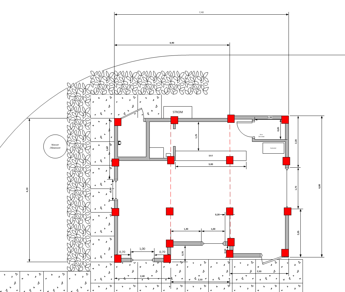 fundament f r 3 wohncontainer. Black Bedroom Furniture Sets. Home Design Ideas