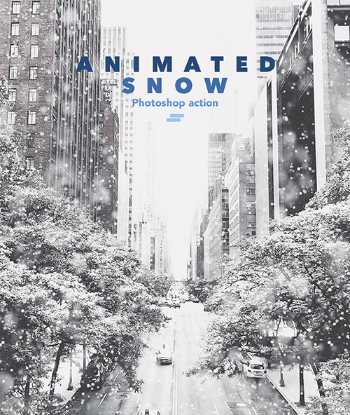 Gif Animated Snow Photoshop Action-18031093