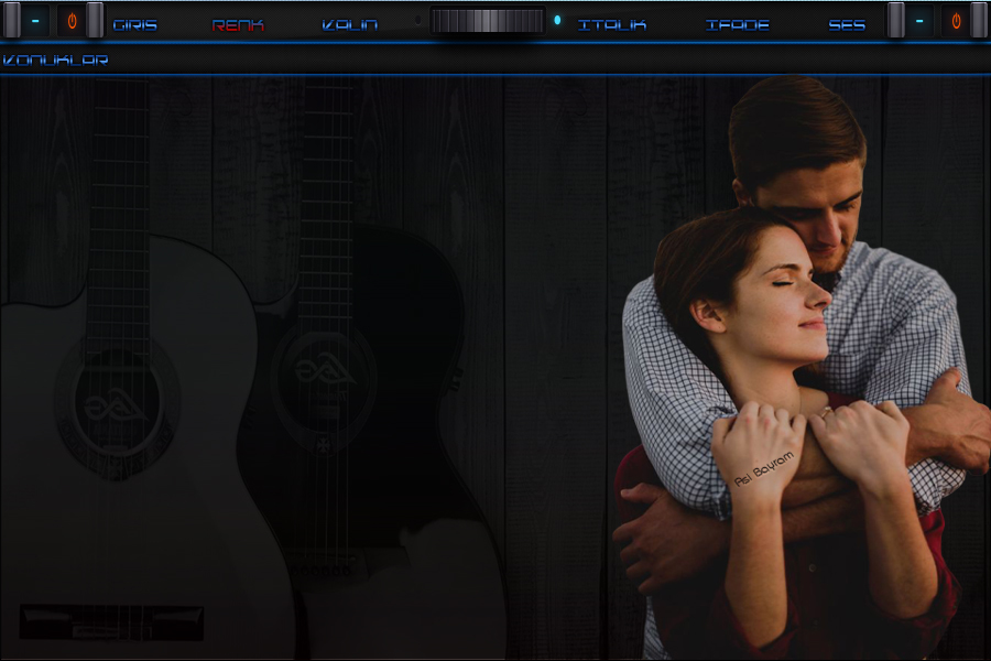 Gitarlı Mavili Cift Tema