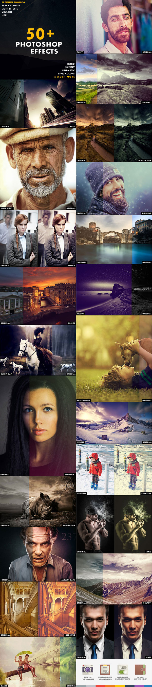 GraphicRiver 50+ Photoshop Effects